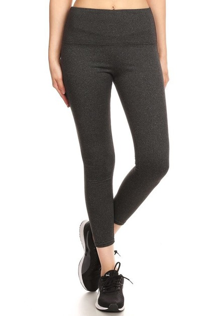 Ankle Length Solid Fleece Leggings   - orangeshine.com