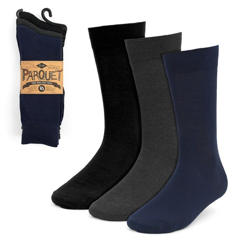 3 Pairs Men Solid Dressy Fancy Socks - orangeshine.com