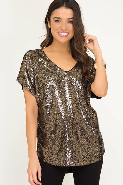 SEQUIN TOP - orangeshine.com