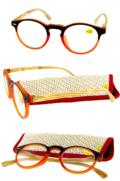 Woodlike spring hinge reader glasses - orangeshine.com