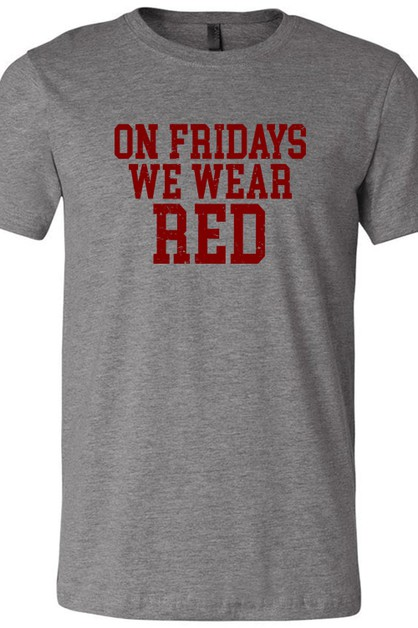 Fridays We Wear Red Tee - orangeshine.com