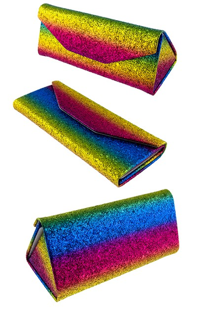 Foldable Trianglular glitter rainbow - orangeshine.com