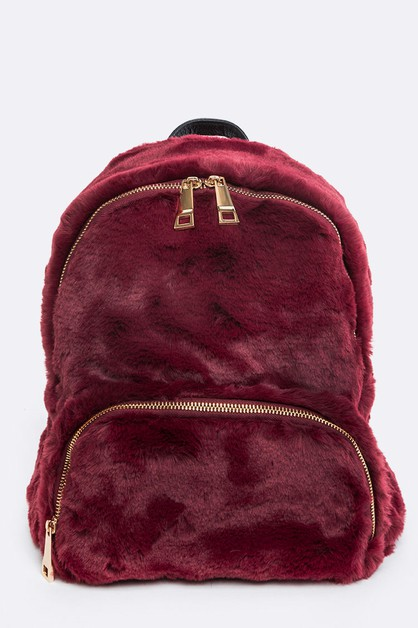 Fur Fashiopn Backpack - orangeshine.com