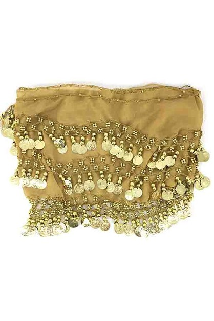 Belly dance gold coin skirt - orangeshine.com