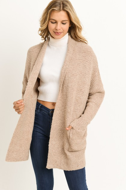 Ribbed Long Cardigan - orangeshine.com