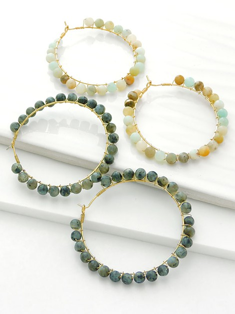 Beautiful Beaded Hoops - orangeshine.com