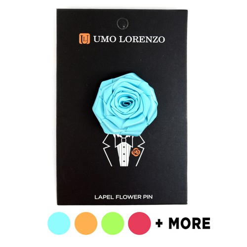 Solid Flower Boutonniere Lapel Pins - orangeshine.com