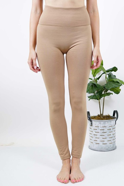 Tummy Control Fleece Leggings  - orangeshine.com