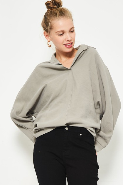 oversized longsleeve top  - orangeshine.com