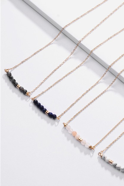 The Piper Beaded Bar Necklace - orangeshine.com
