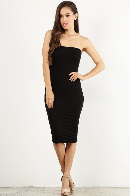 Strapless Tube Dress - orangeshine.com
