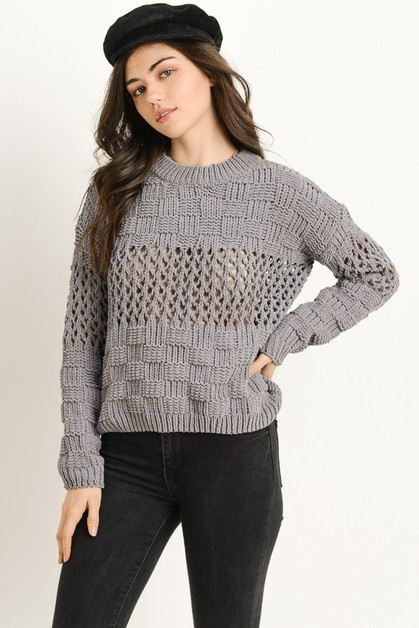 Crochet Sweater - orangeshine.com