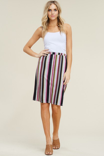 STRIPED SKIRT ON LIGHT HACCI - orangeshine.com