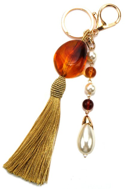 Stone Tassel Drop Key Chain - orangeshine.com