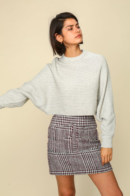 Iris Cropped Sweater  - orangeshine.com