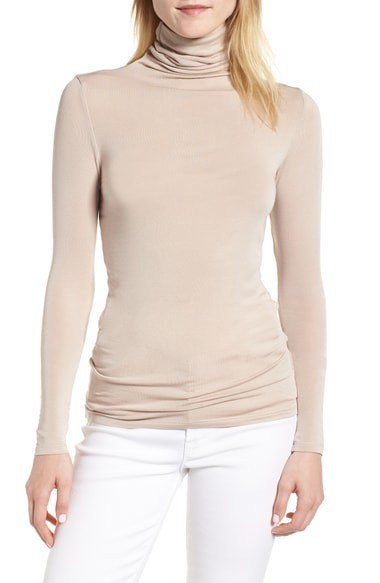 Turtle Neck Long Sleeve Fitted Top - orangeshine.com