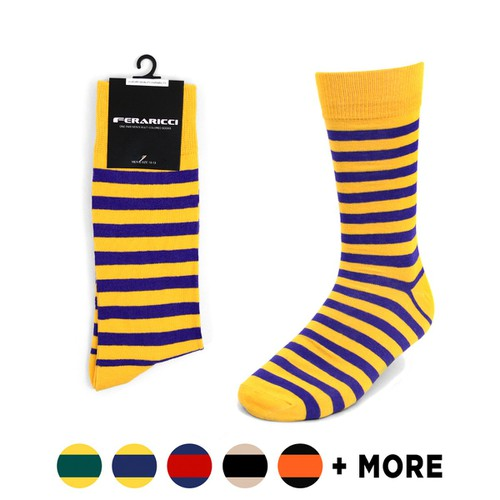Men College Striped Feraricci Sock - orangeshine.com