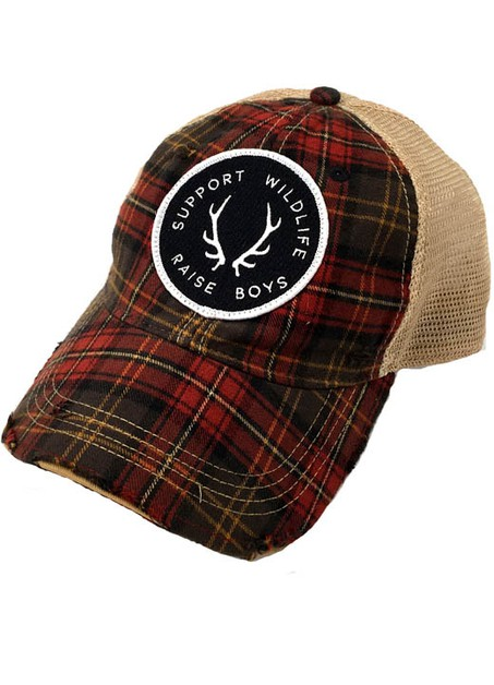 SUPPORT WILDLIFE RAISE BOYS - PLAID - orangeshine.com
