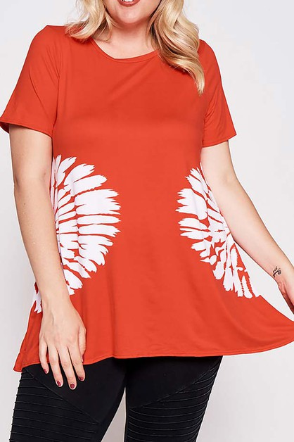 TIE DYE SHORT SLEEVE TOP  - orangeshine.com