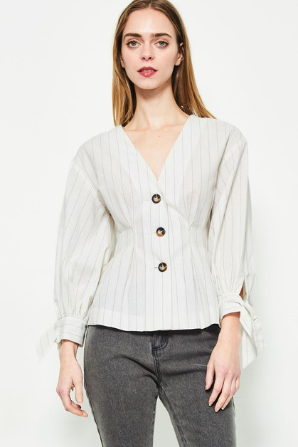 striped blouse  - orangeshine.com