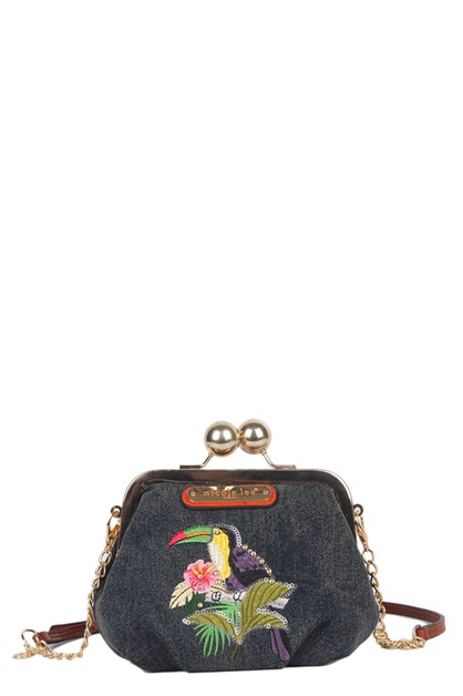 EDRIS KISS LOCK PARROT CROSSBODY - orangeshine.com