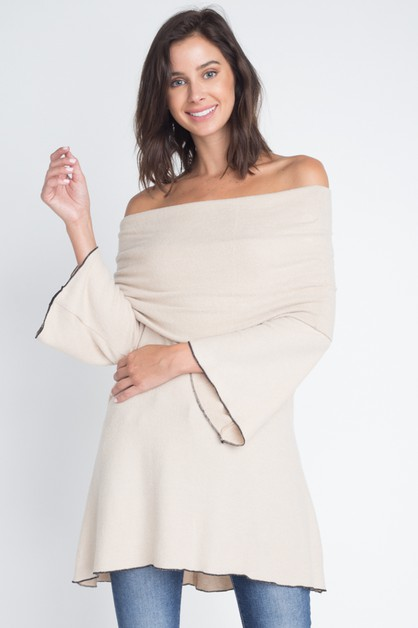 OFF SHOULDER SWING TUNIC - orangeshine.com