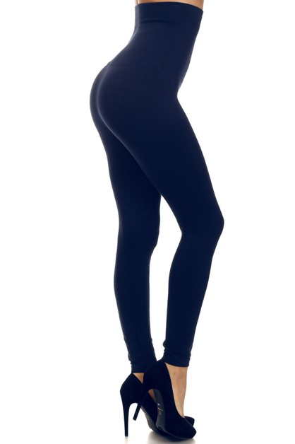 High Waist Cotton Compression Leggin - orangeshine.com