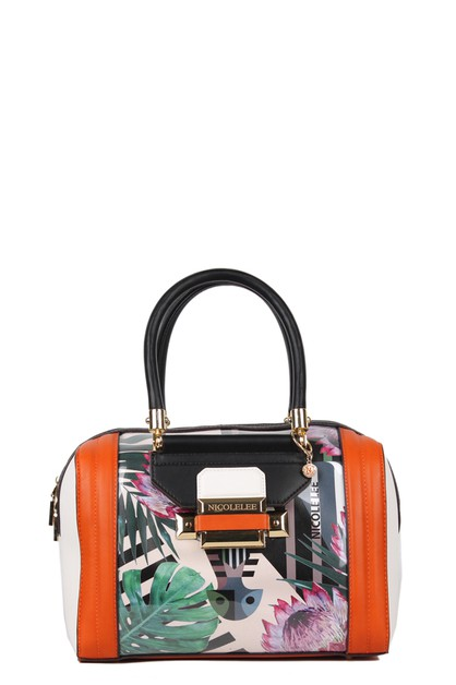 ANIMAL PRINT BOSTON BAG - orangeshine.com