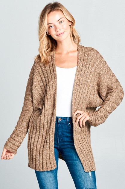 BOXY 2TONE SWEATER CARDIGAN - orangeshine.com