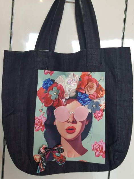 Denim fashion  bag - orangeshine.com