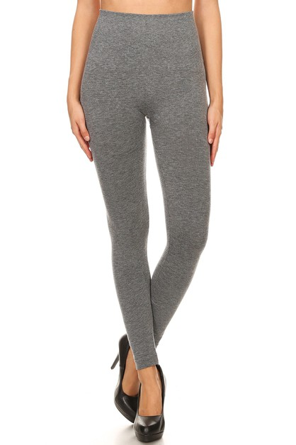 High Waist French Terry Legging Warm - orangeshine.com