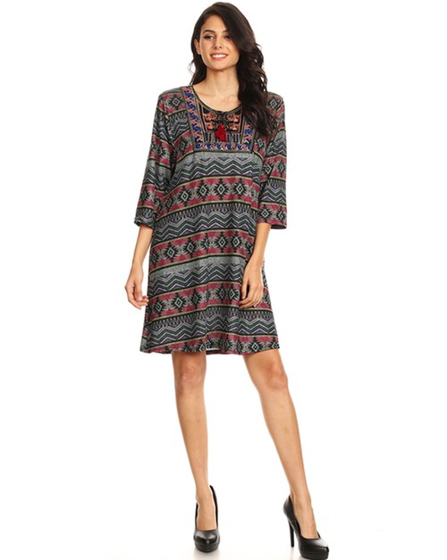 Aztec pint dress - orangeshine.com
