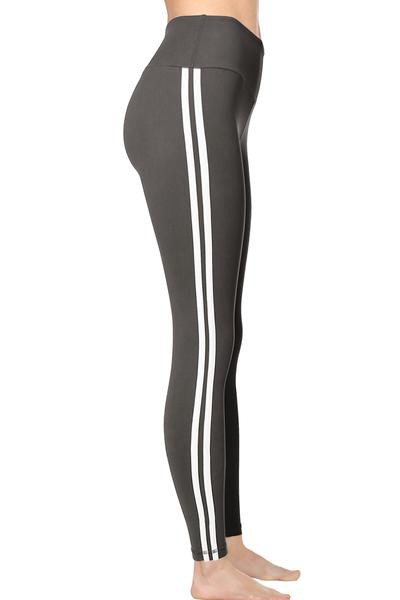 PLUS Striped Yoga Leggings - orangeshine.com