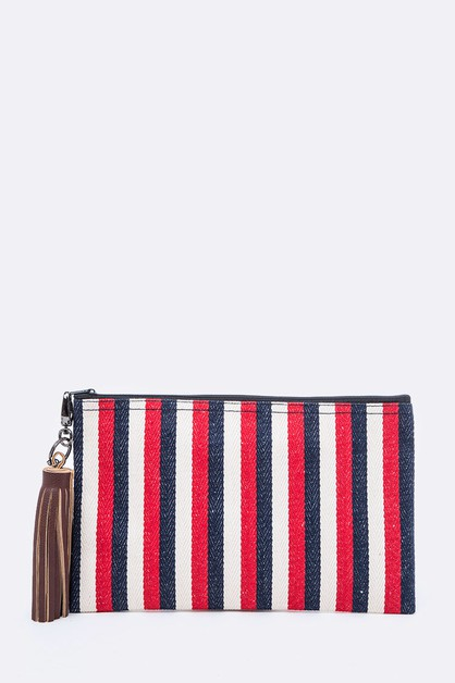 Color Stripes Canvas Pouch - orangeshine.com