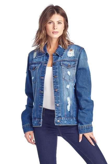 OVERSIZE DENIM JACKET - orangeshine.com