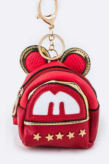 Star Studs Mouse Backpack Key Charm - orangeshine.com