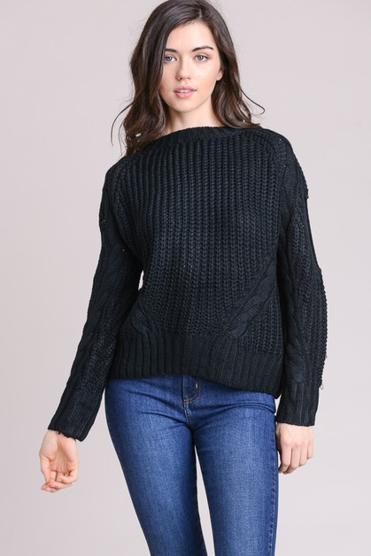 Cut out sweater - orangeshine.com