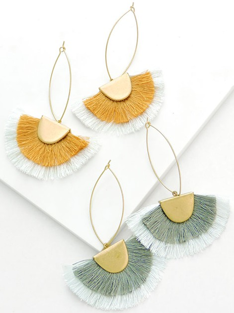 Tonal Tassel Elegant Earrings - orangeshine.com