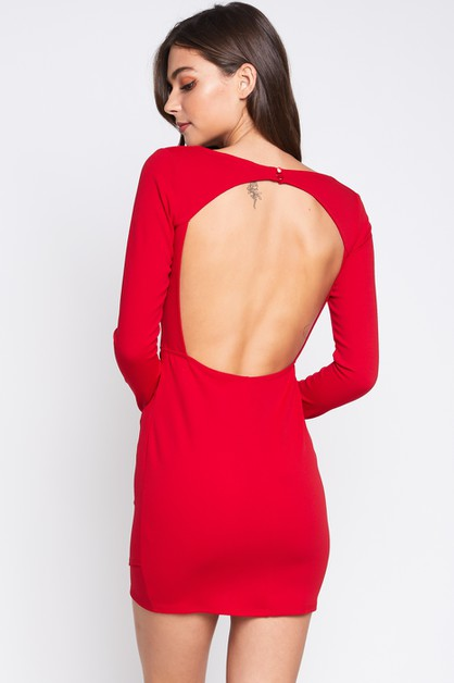 OPEN BACK DRESS - orangeshine.com