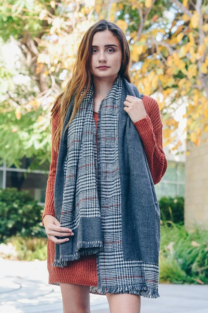 Reversible Tartan Plaid Scarf - orangeshine.com