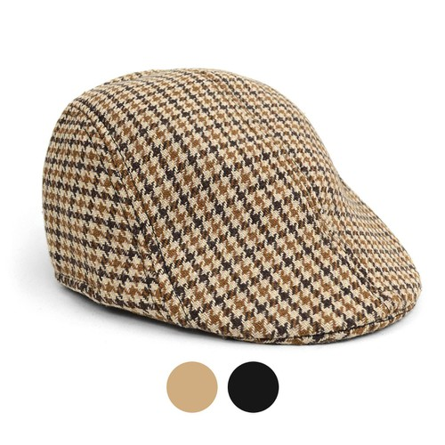 Fall-Winter Hounds Tooth Ivy Hat - orangeshine.com