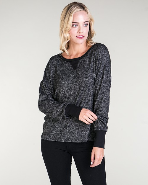 TWO TONE BLACK PULLOVER - orangeshine.com
