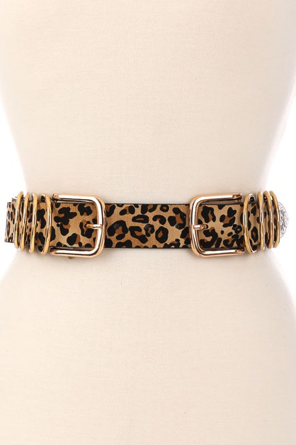 Double Buckle Multi Ring Belt - orangeshine.com