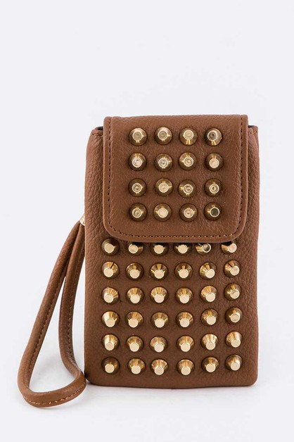 Studded Convertible Mini Pouch - orangeshine.com