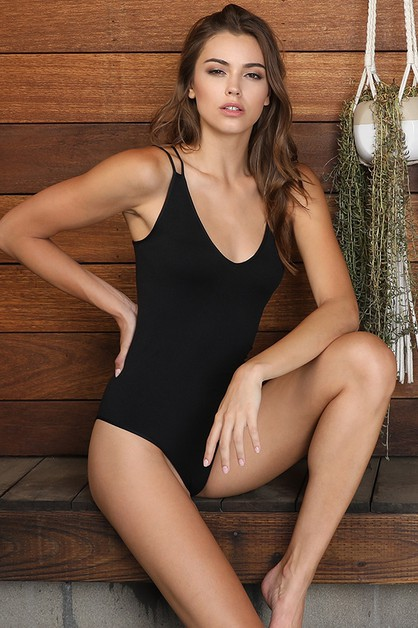 Double Strap Bodysuit - orangeshine.com