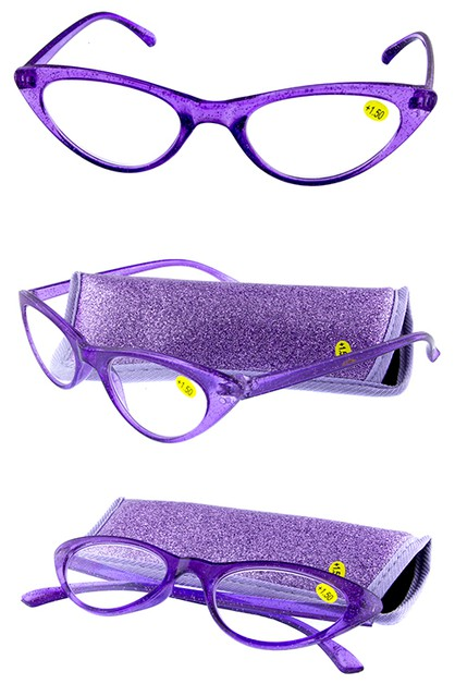Cateye glitter style Reading glasses - orangeshine.com