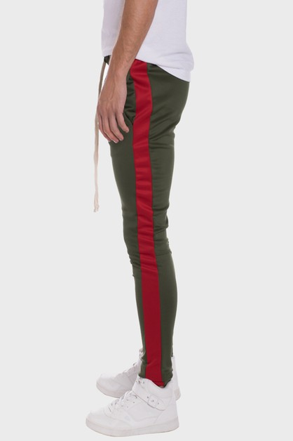 Holiday Track Pants with Side Stripe - orangeshine.com