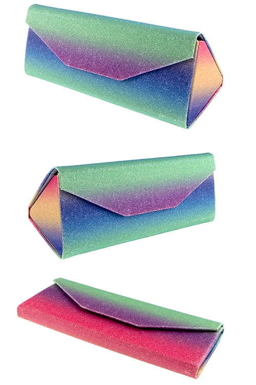 Foldable glitter colorful triangular - orangeshine.com
