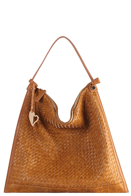 ffd84ca94a ANDREA BIJOUX Wholesale Designer Contrast Trim Hobo Bag ...