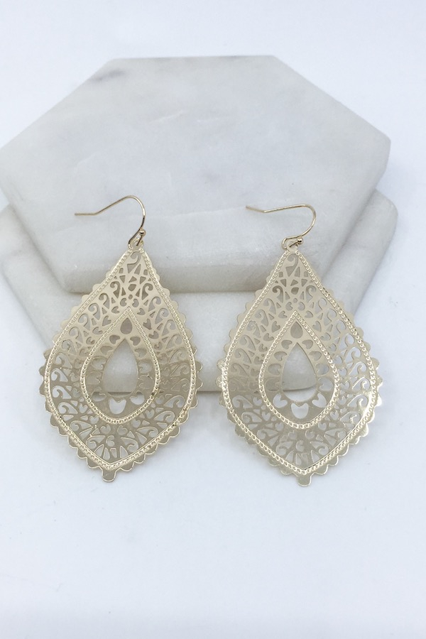Filigree Earrings - orangeshine.com